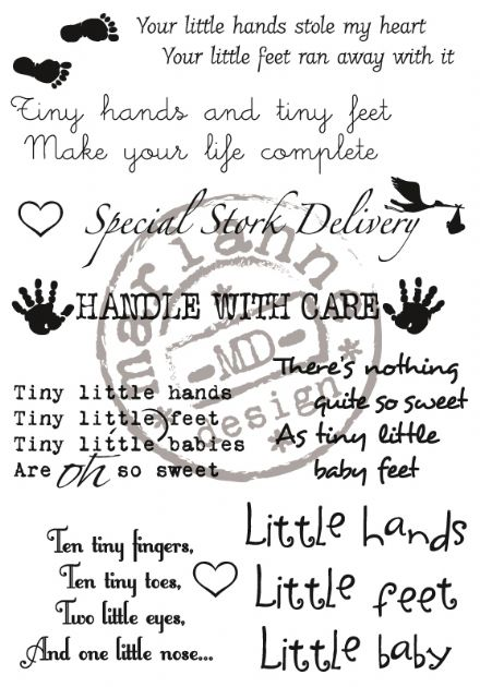 CS0923 ~ BABY LYRICS  ~  Marianne Designs Clear stamp